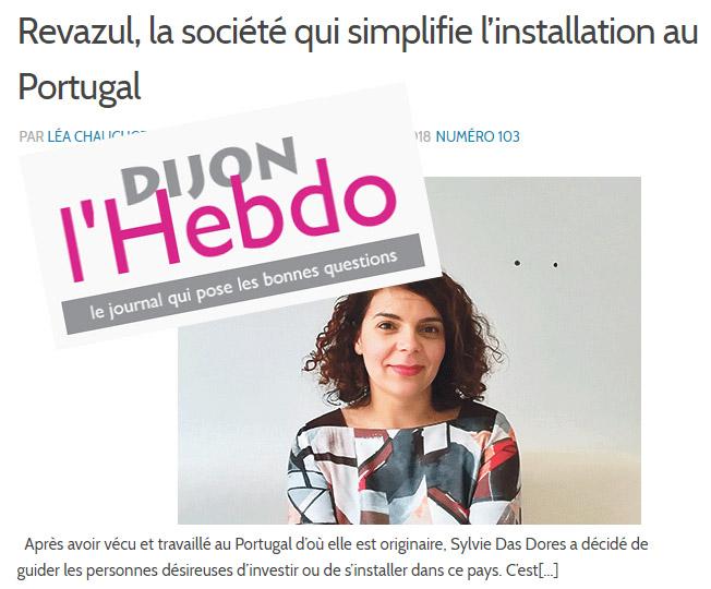 Revazul conseil expatriation Portugal - article Dijon Hebdo 140318